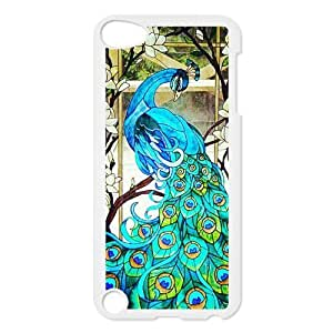 Design Case Cute Peacock Bird painting Printed Print on Hard Plastic Back Case Cover Ipod touch 5 Case Perfect as Christmas gift(2)