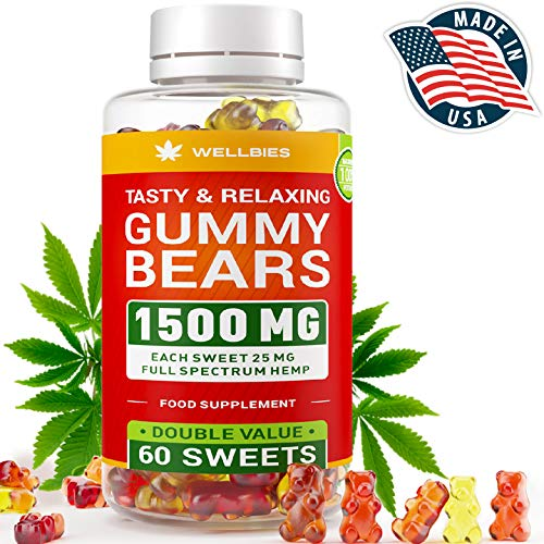 Premium Hemp Gummies - King Size 1500MG - 60pcs - Natural Hemp Extract - Made in USA - Boost Memory, Improve Sleep, Support Good Mood - Fast Results - Rich in Vitamins B, E, Omega 3, 6, 9