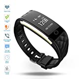 Fitness Tracker,DENISY Wireless Activity Trackers Smart Bracelet with Heart...