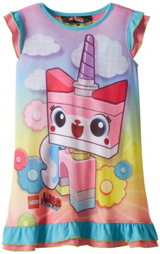 Lego Big Girls'  Dorm Movie Unikitty Nightgown, Pink, 7/8