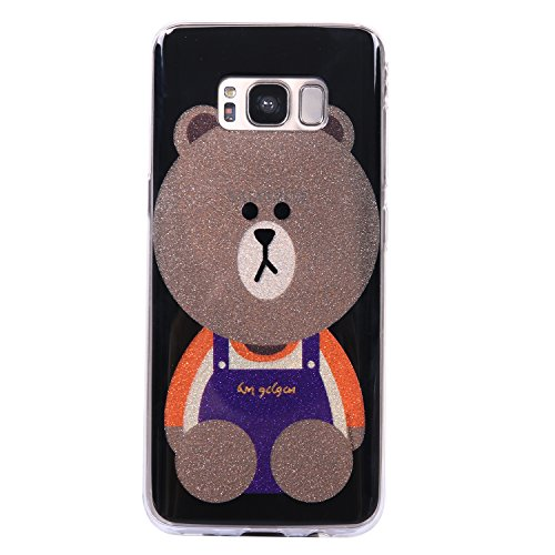 Galaxy S8 Bling Case, Samsung S8 Cover, BONROY® Ultra-Thin Soft Gel TPU Silicone Case For Samsung Galaxy S8, Luxury Glitter Sparkle Perfect Fit Slim Sturdy Bumper Scratch Resist Protective Clear Cute Brown bears