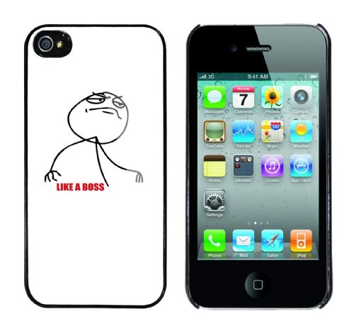 Iphone 4 Case Like a Boss Rahmen schwarz