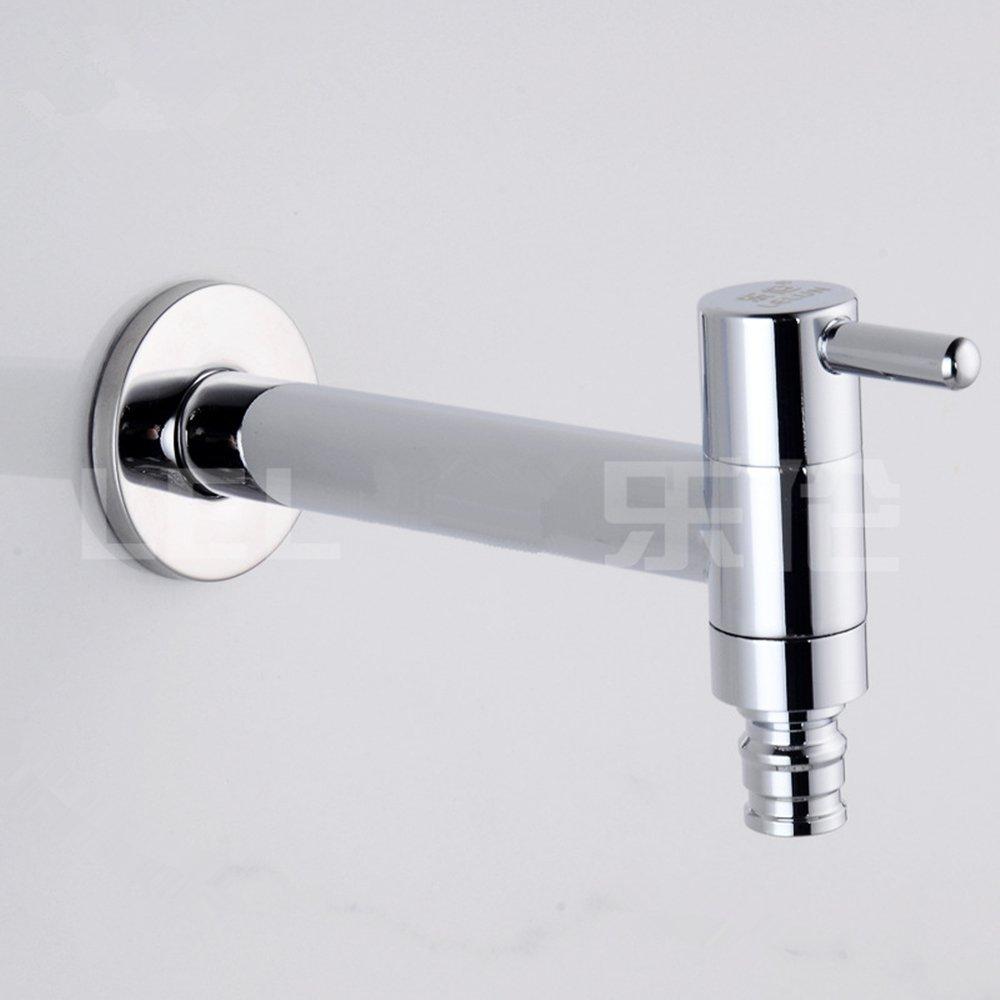 Rubinetto a parete acqua fredda bagno lavabo lavandino vasca da giardino, per rubinetti lavatrice rubinetti, finitura in cromo CZ