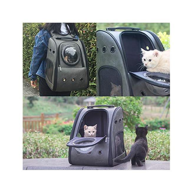 Pet Bag Outdoor Sports Pet Carrier Backpack Breathable Double Shoulder Bag Hiking Portable Breathable Mesh Window Backbag for Traveling Pink Pet Travel Bag