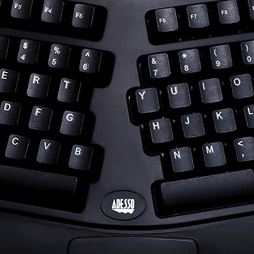 Adesso PCK-208B - Tru-Form Media Contoured Ergonomic Keyboard