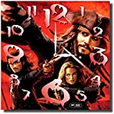 ART TIME PRODUCTION Pirates of The Caribbean 11'' Handmade Wall Clock - Get Unique décor for Home or Office – Best Gift Ideas for Kids, Friends, Parents and Your Soul Mates