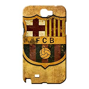 samsung note 2 case cover Snap-on pattern mobile phone carrying shells fc barcelona