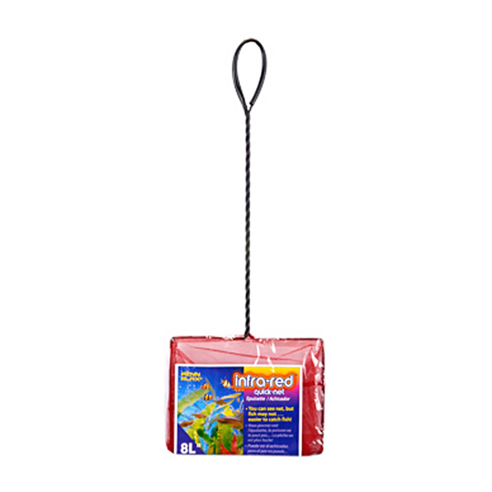 Penn Plax Infra Red 8'' x 6.25'' Quick Net, 21.5'' Tall with Extra Long Handle