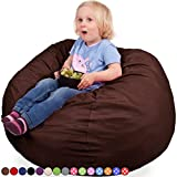 Panda Sleep Oversized Bean Bag Chair in Espresso - Machine Washable Big Soft Comfort Cover & Memory Foam Filler - Cozy Lounger & Bed - Kids & Teens Love This Huge Sack - Indoor Furniture