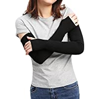 Sheeper Women's Arm Warmer Sleeve Sun Block Stretchy Long Fingerless Driving Gloves