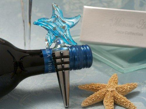 (Murano Art Deco Collection Starfish Wine Stopper C3008 Quantity of 1)