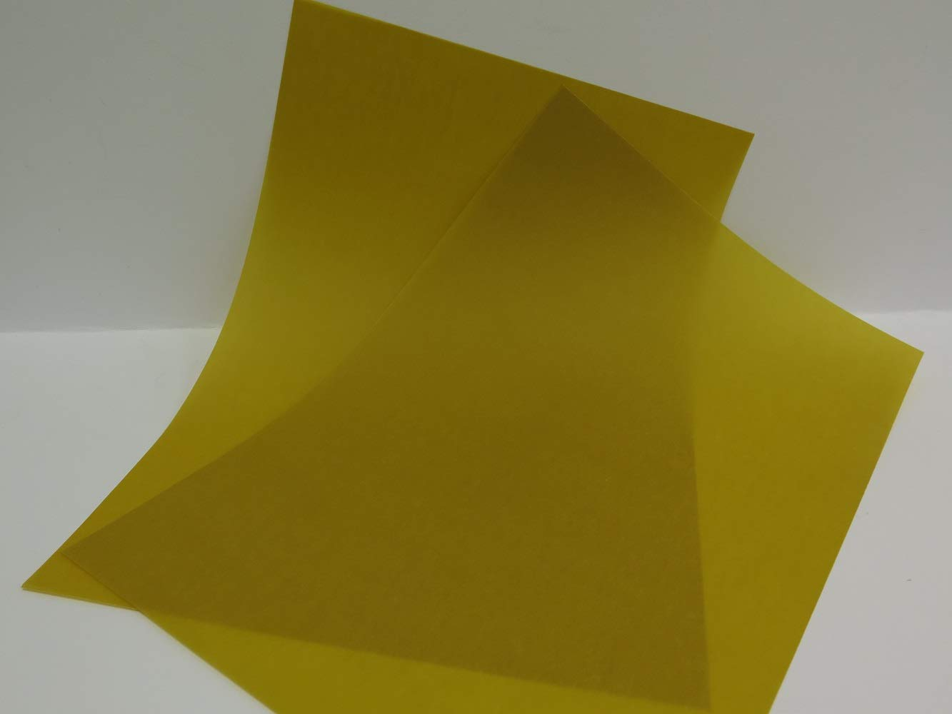 25 x Vellum Coloured Translucent Tracing Paper A4 160gsm 3 Colours Cardmaking (Amber AM799) Jackdaw Express