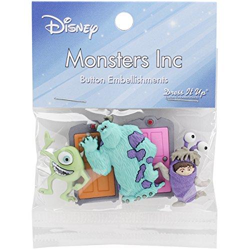Dress It Up 7734 Disney Button Embellishments, Monsters Inc -