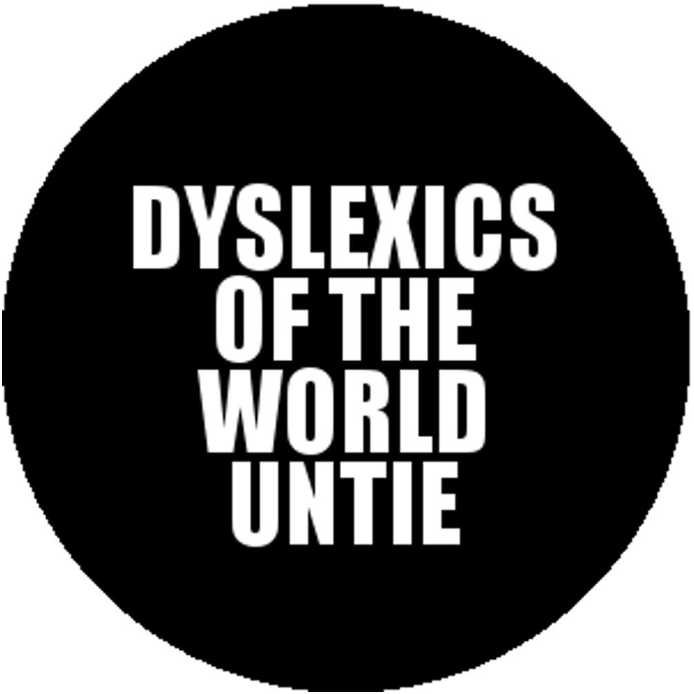 New Black Fashion Button Badge Pin Funny Fun Dyslexics of the World Untie Unite Good-Looking Corpse
