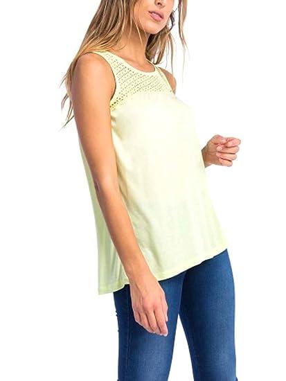 Mujer Fluor Dunia Encaje Verde En xs Espalda Tiffosi Con Camiseta 6T58qOnxUw
