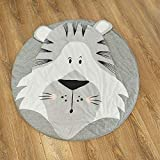 Abreeze Tiger Baby Round Play Pad Crawling Mat