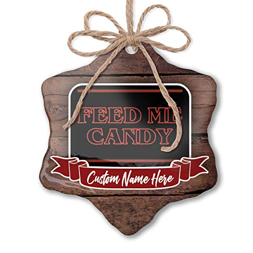 NEONBLOND Custom Family Ornament Feed Me Candy Halloween