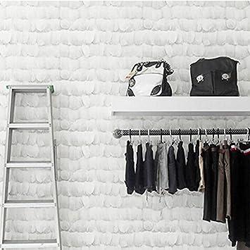 Xiajingjing Simples Coréen Gris Plumes Non Tissé Papier Peint Chambre à  Coucher Décoration Shop Pour Femme