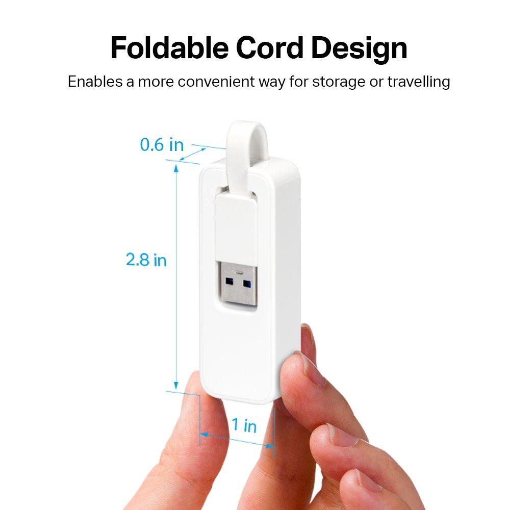 TPLink USB to Ethernet Adapter Foldable USB 30 to 101001000 Gigabit Ethernet LAN Network Adapter