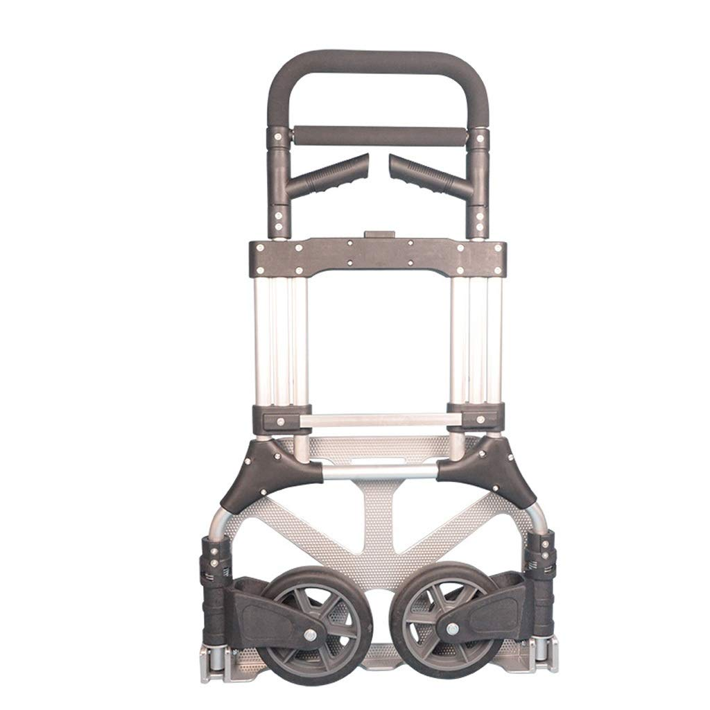Extra Large Aluminum Alloy Trolley with Handle Trailer Two-Wheeled Luggage Cart Foldable Trolley Increase The Wheel