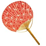 Japanese Traditional Hand Held Fan Wood Handle Hand Fan, No.2