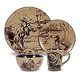 Mossy Oak Animal Print 16 Piece Dinnerware Set, Se by Mossy Oak Watches