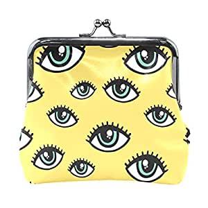 Coosun - Monedero de Piel con diseño de Ojos: Amazon.es ...
