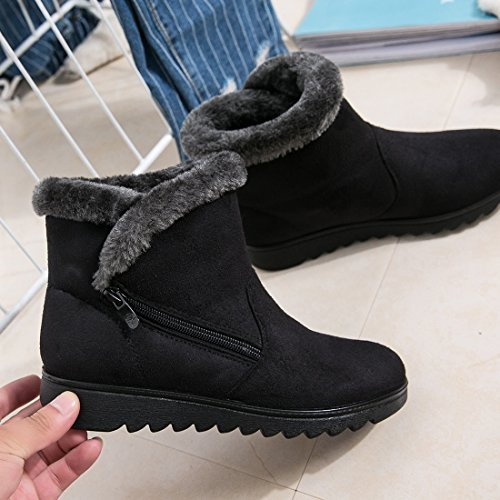 Calf Wide Boot Boots Girls O Fur Ankel Warm amp;N Snow Women Winter Faux SRqvzwS
