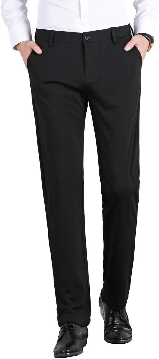 Yingqible Uomo attivit/à Commerciale Pantaloni Stretch Slim Fit Formali Pantaloni Completo
