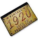 RFID Passport Holder Vintage Year 1920, Born/Made, Cover Case / Wallet - Neonbl