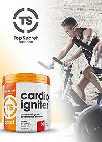 Top Secret Nutrition Cardio Igniter , Fruit Punch, 6.35 oz. (180g), 30 Servings