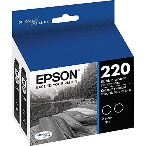 3 X Epson DURABrite Ultra Black Dual-Pack Ink Stnd-cap Ink (T220120-D2) -  T220120D2