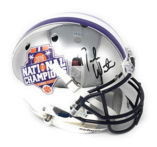 Deshaun Watson Clemson Tigers Signed Autograph Full Size RARE CHROME Helmet BCS Champs Edition Watson Player Hologram Certified