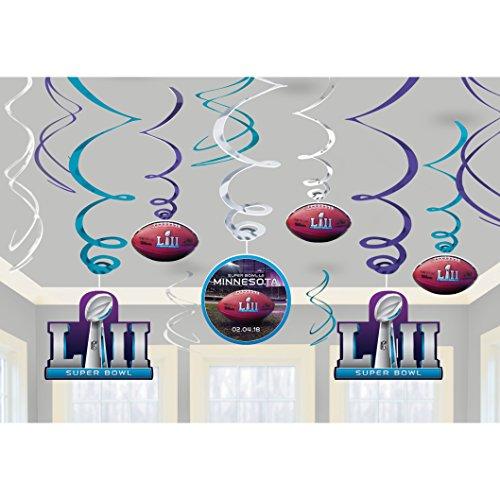 Super Bowl LII Hanging Swirls (12ct)