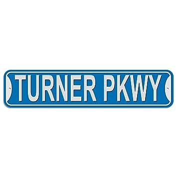 Turner Pkwy Parkway Sign - Plastic Wall Door Street Road Male Name - Blue