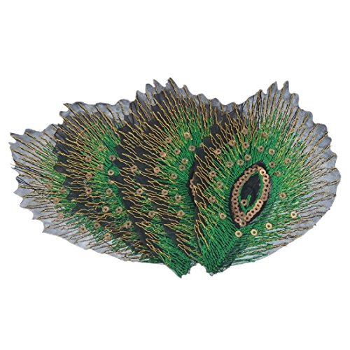 MeineBeauty ピーコックの羽刺繍 アップリケ ワッペン パッチ10*6.9cmの商品画像