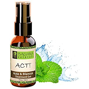 ACT! Best Acne Spot Treatment Gel - 2% Salicylic Acid + Witch Hazel - For Teens, Adult, Hormonal & Cystic Acne, Men & Women - Get Rid of Acne Scars, Blackheads, Blemishes & Pimples - Natural & Organic