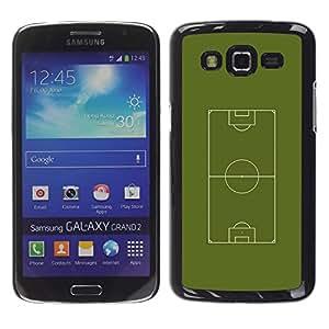 Fútbol Campo de fútbol - Metal de aluminio y de plástico duro Caja del teléfono - Negro - Samsung Galaxy Grand 2