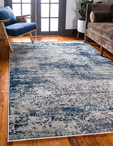 Unique Loom Mystic Collection Abstract Vintage Navy Blue Area Rug 9' 0 x 12' 0