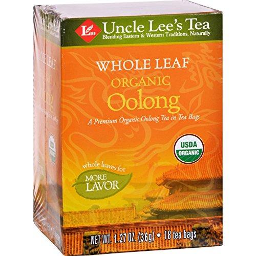 Uncle Lee s Tea 100% Organic Oolong Tea Whole Leaf - Case of 12 - 18 Bag - 100% Organic -
