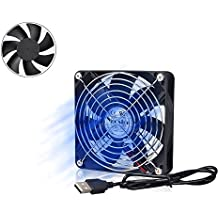 Yoosion Silent Fan 120mm Fans Portable USB Powered Computer Fan for Computer Cases, Game Box, TV Boxes