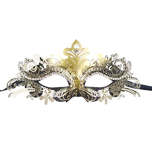 [Classic Venetian Princess Party Masks Evening Prom Masquerade Sparkly Masks fancy party] (Dead Prom Queen And King Costumes)