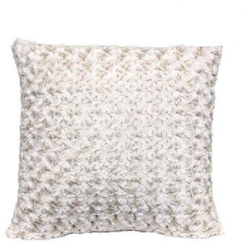 Better Homes and Gardens Rosette 18' Knife Edge Ivory Decorative Pillow