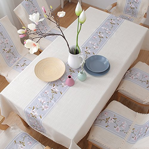 Apricot Blended Tea - WENJUN Tea Table Cloth Cloth Art Household Rectangle Table Cloth Table Cover Square Round Tablecloth 45 Inches Waterproof Oil-Proof Literature and Art Cloth Towel (Color : Apricot, Size : 140210)