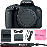 Canon EOS REBEL T7i Body SLR Digital Camera Value Bundle + Camera Works Microfiber Cloth
