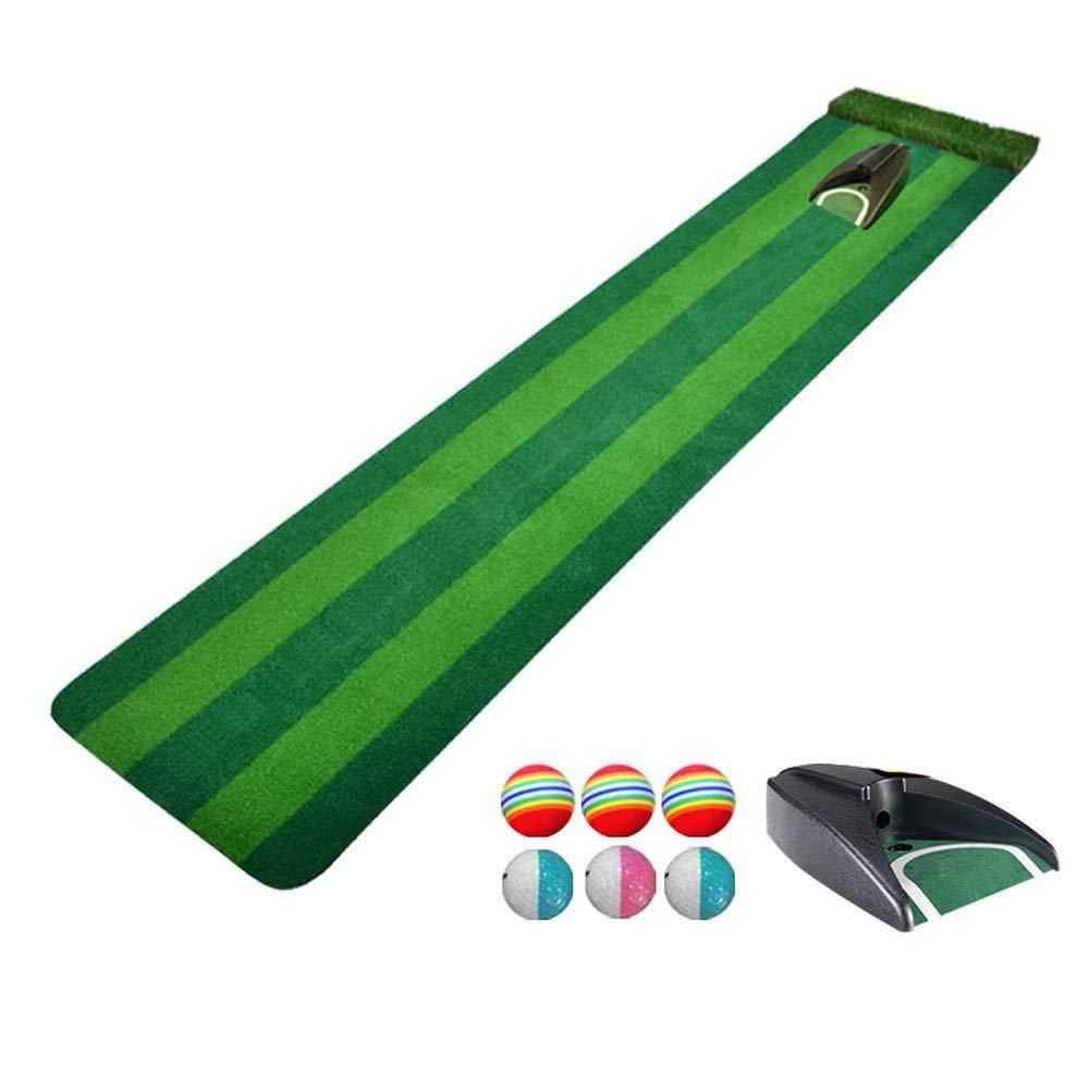 CNインドアゴルフパッティング練習ブランケット - 子供用ゴルフ練習マルチレーンデザイン人工グリーン収納と持ち運びに便利、D、ワンサイズ   B07L8P4LQN