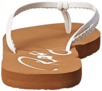 Roxy Women's Cabo Flip Flop, White, 8 M Us 1