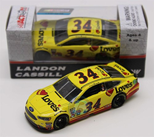 NASCAR Landon Cassill #34 Love's 1/64 Kids Hardtop Car 2017