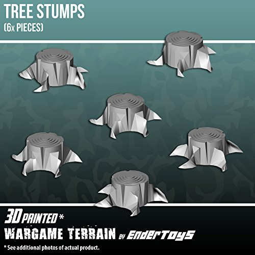 Tree Stumps, Terrain Scenery for Tabletop 28mm Miniatures Wargame