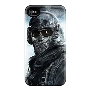 Durable Hard Phone Covers For Apple Iphone 4/4s With Customized Fashion Call Of Duty Modern Warfare 2 Ghost Pictures RobAmarook